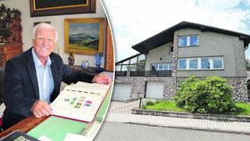 Luxusní vila filatelisty Pytlíčka na prodej za 5,5 milionu: Našli ho zmrzlého ve sněhu