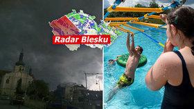 Ženou se bouřky, sledujte radar Blesku. V úterý až 35 °C a hrozí i požáry