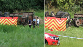 Traktor se skutálel z kopce: Uvnitř zemřel chlapec (†16)!