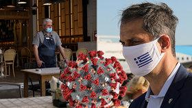 Dovolenkové ráje opět zpřísňují: Roušky do obchodů v Řecku a omezení barů v Madridu