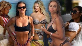 Prsa do dlaní a nohy od sebe! Celebrity na pláži předvedly dokonalé erotické dusno