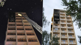 Požár v paneláku v Ostravě: Obyvatele zachránily kočky! 3 dospělí a dítě se zranili