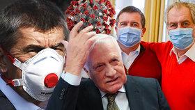 Politické špičky a koronavirus: Nákaza v okolí Zemana, Klause i Babiše. Koho už testovali?