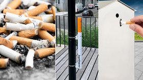 Cigareta nebo vajglovník. V boji proti nepořádným kuřákům mají pomoci netradiční popelníky