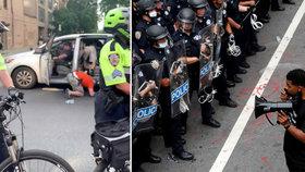 Policie unáší demonstranty? Na videu tlačí ženu do auta, v New Yorku čelí kritice