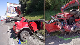 Tragédie na D1: Řidič kamionu přehlédl muže, který u osobního auta měnil prázdné kolo