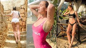 Sexy dovolená Kadeřávkové z Ulice: Vyšpulený zadeček v titěrných plavečkách!