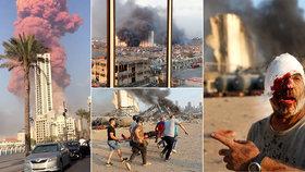 Mohutná exploze v Bejrútu: 135 mrtvých a tisíce zraněných. Češi dorazili pomáhat
