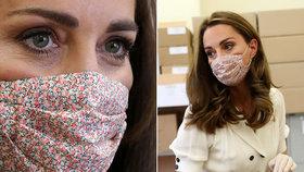 Vévodkyně Kate poprvé schovala tvář za roušku! Později ale hořce zaplakala