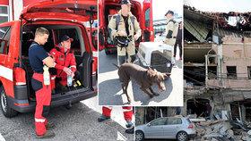 Psí šampioni i ostřílení záchranáři. Kdo z Česka dorazil do Bejrútu zachraňovat životy?
