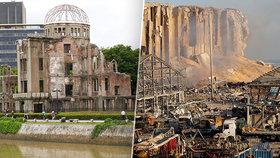 Výbuch v Bejrútu přežilo silo postavené Čechy: Připomnělo Atomový dóm českého architekta v Hirošimě