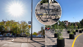 Židle a stolky místo parkoviště. Podaří se oživit zanedbaný plácek na Malvazinkách?