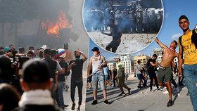 """Vrazi."" Demonstranti v Bejrútu pronikli na ministerstvo. Premiér chce nové volby"