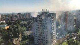 Šokující záběry požáru v Bohumíně: Takhle vypadala tragédie ze vzduchu