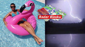 V neděli bude v Česku přes 34 °C, pak přijdou silné bouřky. Sledujte radar Blesku