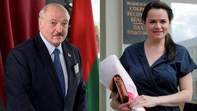Největší hrozbou pro Lukašenka je mladá učitelka. Brunetka se skryla v bezpečí