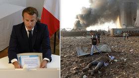 Přes šest miliard korun pro Libanon: Světoví lídři v čele s Macronem přislíbili pomoc