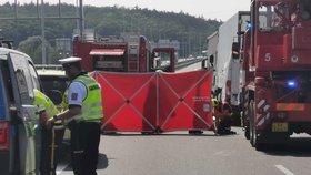 Tragická nehoda zablokovala Pražský okruh u Běchovic: Dva mrtví!