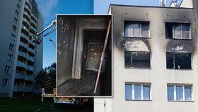 Záchrana před plameny v poslední chvíli: Přelezl na vedlejší balkon, jeho rodina v bytě uhořela!