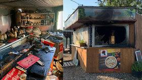 Oblíbený venkovní bar na Litoměřicku hořel: Zapálil ho žhář?