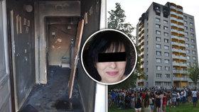 Žaneta před ohnivým peklem unikla přes balkon: Je v těžkém stavu, o smrti dcer a vnoučka neví
