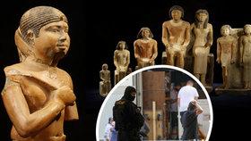 Miliardový poklad v Národním muzeu! Tisíce let staré nálezy z Egypta hlídaly po cestě samopaly i vrtulník