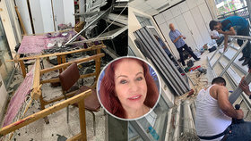 Blanka Matragi likviduje škody po výbuchu! Život pokračuje, raduje se v ateliéru