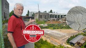 Václav (67) si zoufá: Stavba továrny mi ničí dům! Mají tam pracovat vězni, bojí se