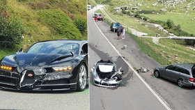 Sakra drahá nehoda: Bugatti za 70 milionů nabouralo další dva luxusní sporťáky