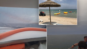 Češi v Tunisku: Zdolali i bouři na moři. Země láká na levné vodní sporty