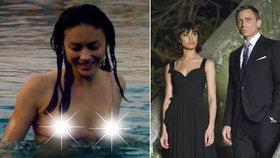 Bond girl Olga Kurylenková: Při zásnubách odhalila bradavky!