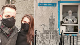 """""""Kašlání"""" na roušky i vykoupené obchody:Gábina a Honza popsali pandemii v Polsku"""
