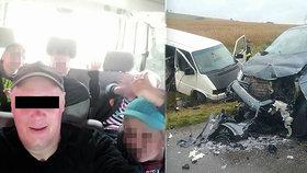 Poslední foto před smrtí: Při děsivé nehodě zemřeli čtyři chlapci (†6, †10, †11, †11) a Marián (†43)