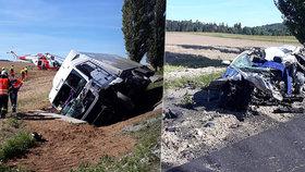 Osobák vjel u Strakonic do protisměru a rozmašíroval se o kamion: Řidič nepřežil