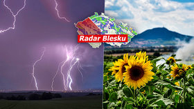 Tropy budou v sobotu střídat silné bouřky s krupobitím. Sledujte radar Blesku