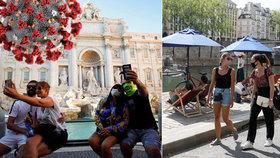 Francie s Itálií hlásí rekordní počty nakažených od května. Španělsko zažilo vrchol před týdnem