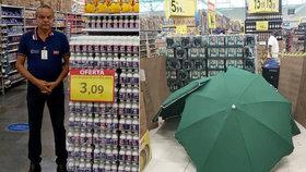 Manažer supermarketu dostal při práci infarkt: Zákazníci mohli nakupovat dál, mrtvola nemrtvola