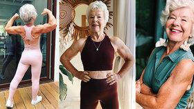 Fitness babča (74) je senzací sociálních sítí: Jen na instagramu ji sleduje 800 tisíc lidí!