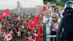 """""""Odejdi!"""" Bělorusové vyšli znovu do ulic.  Lukašenka zachytili v neprůstřelné vestě se zbraní"""