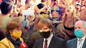 Šokující foto: Takhle se promořují Češi v Chorvatsku! Je to hazard, hřímá Prymula i Rážová