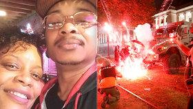 Na tátu tří dětí osmkrát vystřelili. Po zákroku policie ochrnul, protesty provází násilí