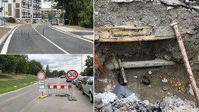 """Opravy ulic na Žižkově komplikují Pražanům život. """"Proč se magistrát už nepoučil?!"""" říkají místní"""