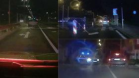 """VIDEO: Za jízdy vyskočil z auta a chtěl utéct: Řidičovu """"dobrodružství"""" noční Prahou vystavila stopku policie"""