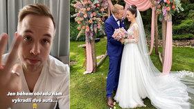 Dohra luxusní veselky youtubera Jirky Krále: Nóbl svatbu mu vykradli!