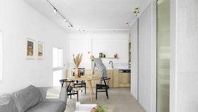 Flexibilní apartmán, kde se mladý muž cítí jako na dovolené