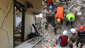 Zázrak v troskách? Měsíc po ničivé explozi hledají záchranáři v Bejrútu přeživšího