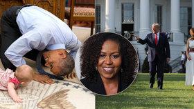 """Obamová se rozepsala o tom, jak """"předělávali"""" Bílý dům. """"Tlak byl obrovský,"""" přiznala"""
