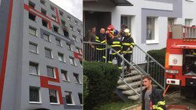 Při požáru v Ústí nad Labem zemřel člověk: Před plameny vyskočil z okna!