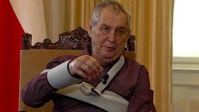 """Zemanova ruka se hojí """"nadstandardně dobře"""", tvrdí Mynář. A řekl, co prezident chystá"""
