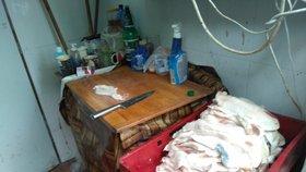 Mňamka z Ostopovic: Řezník vyráběl škvarky a sádlo ve špinavé garáži! Suroviny válel po zemi
